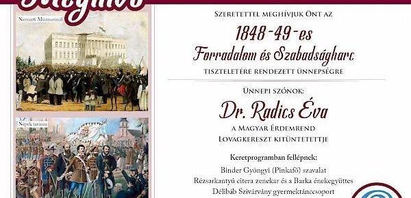 A forradalom és szabadságharc ünnpeGedenkfeier an die ungarische Revolution und Freiheitskampf