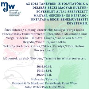 Magyar néptánc és népzene oktatás a Bécsi Zenei Egyetemen