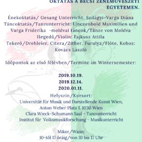 Néptánc és népzene oktatás a Bécsi Zenei Egyetemen