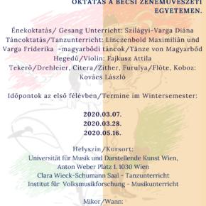 Népzene- és néptáncoktatás a Bécsi Egyetemen