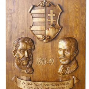 Emlétábla Görgei és Kossuth tiszteletére